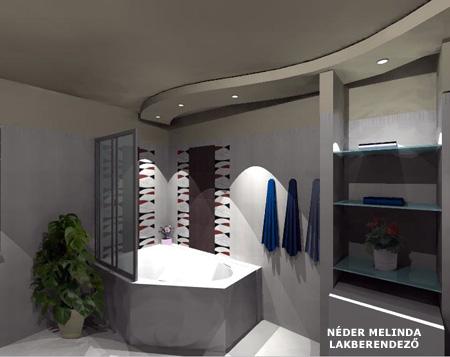200 nm-es ház, fiú fürdőszoba 4. (látvány tervek)  Térformáló Magazin
