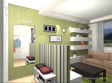 27 nm-es lakás felújítás (látvány tervek)
