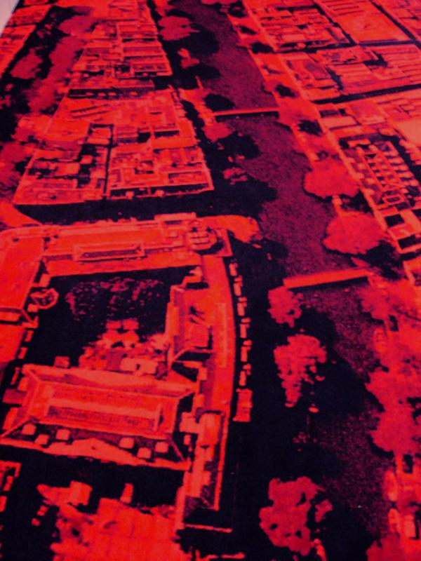 Légi fotó a padlószőnyegen