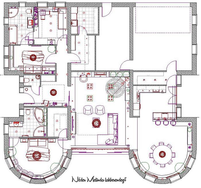 Családi ház teljes lakberendezési tervezése