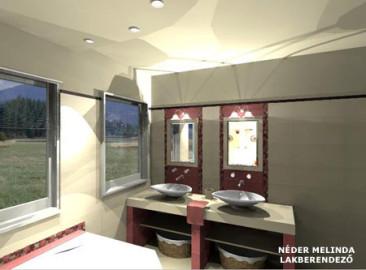 200 nm-es ház, lány fürdőszoba 1. (vázlat tervek)