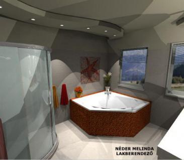 200 nm-es ház, lány fürdőszoba 2. (látvány tervek)