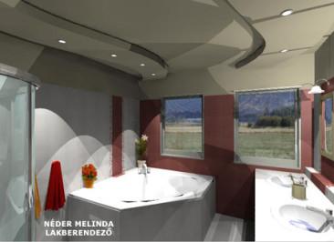 200 nm-es ház, lány fürdőszoba 3. (látvány tervek)
