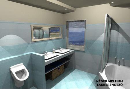 200 nm-es ház, fiú fürdőszoba 2. (látvány tervek)