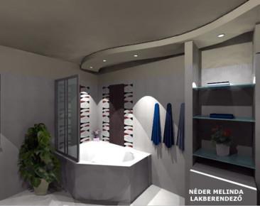 200 nm-es ház, fiú fürdőszoba 4. (látvány tervek)