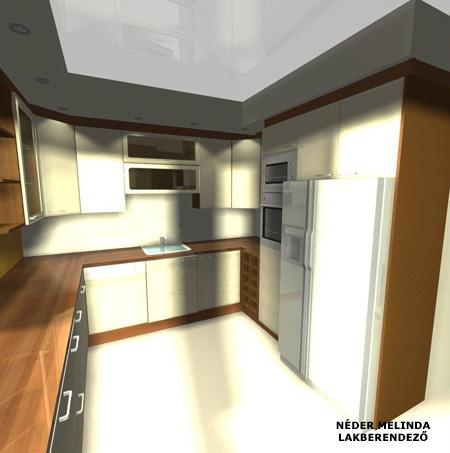 200 nm-es ház, konyha 1. (vázlat tervek)