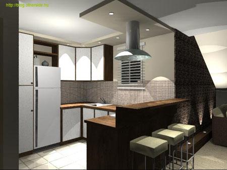 tetőtéri lakás lakberendezése