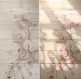 Bújócskázó minták a padlón