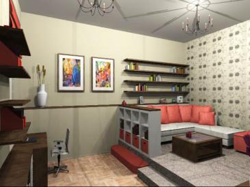 42 nm-es lakás felújítása (látvány tervek)
